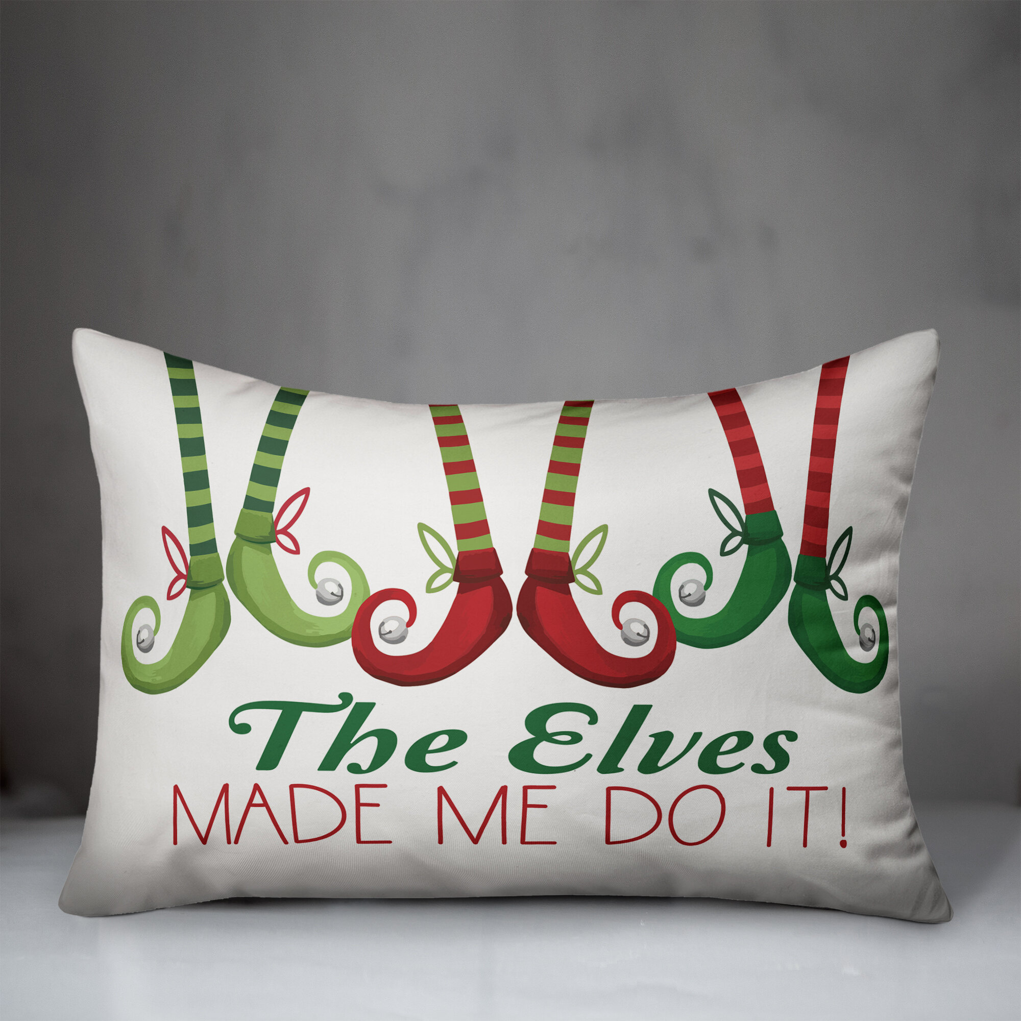 The Holiday Aisle Cournoyer The Elves Made Me Do It Lumbar Pillow Cover Wayfair
