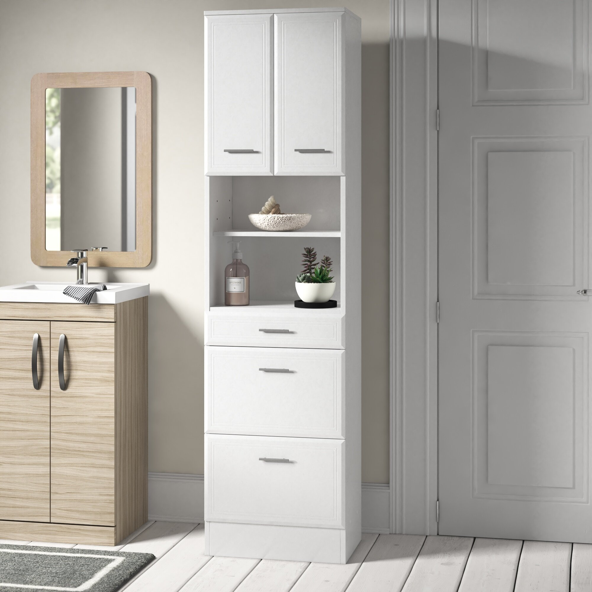 Home Bargains Bathroom Cabinets Tall Bathroom Cabinet With Drawers