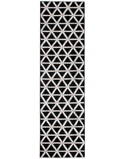 Look for Hollywood Shimmer Metro Crossing Black/Gray Area Rug ByKathy Ireland Home