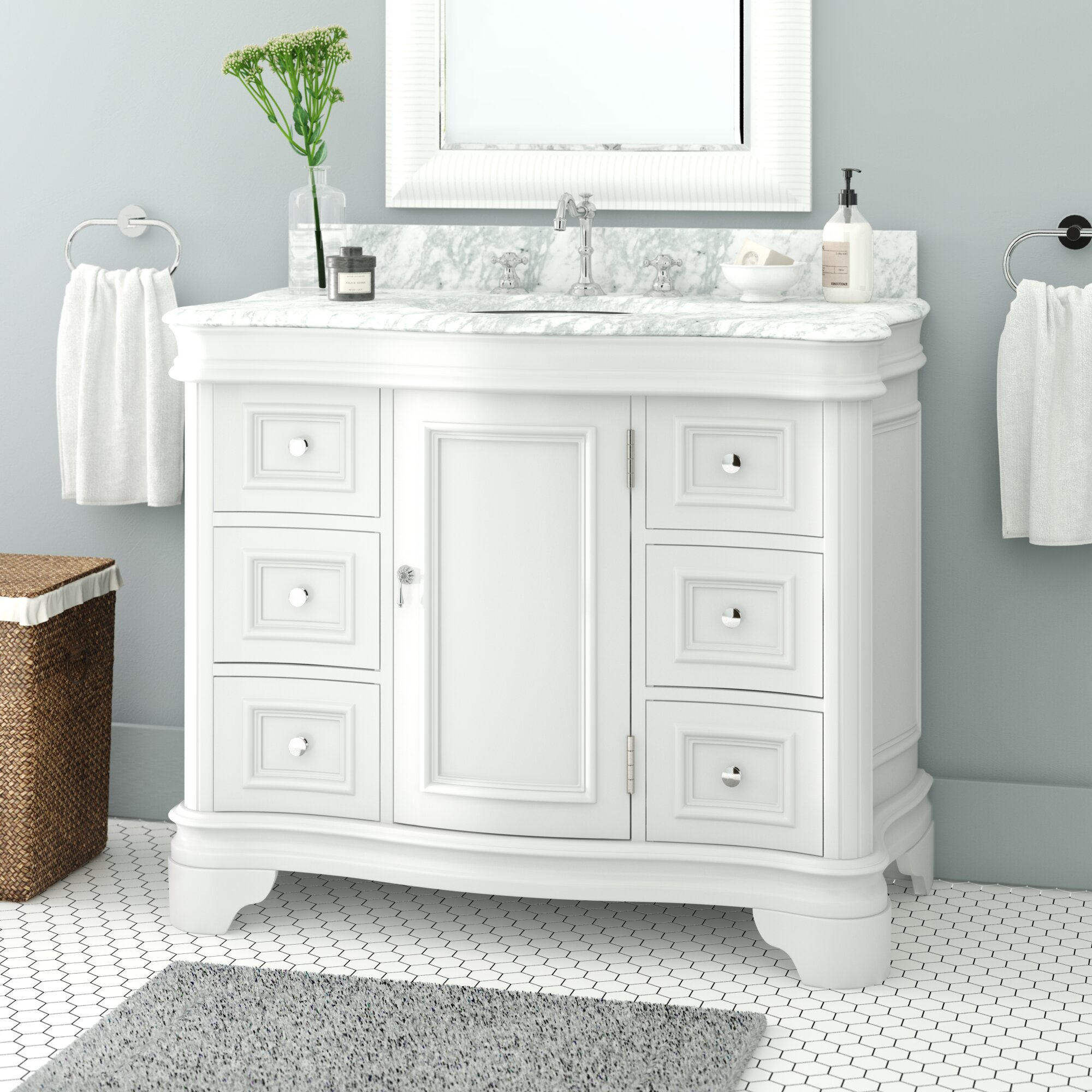 """Toller 6"""" Single Bathroom Vanity"""