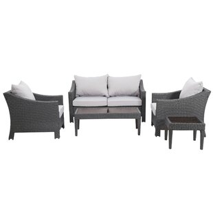 Portola 5 Piece Sofa Set with Cushions by Sol 72 Outdoor
