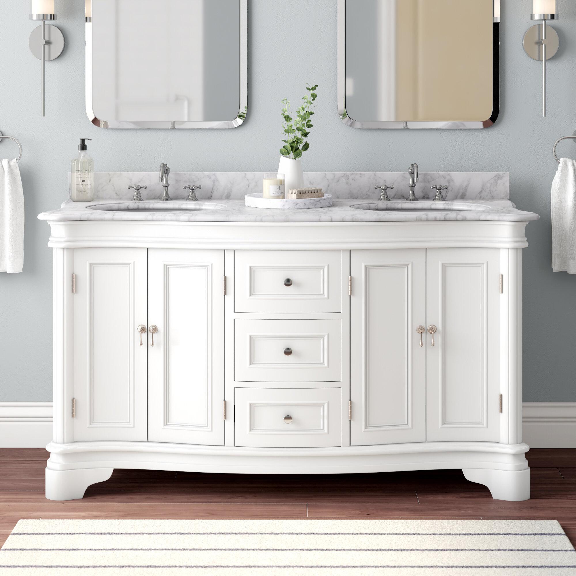 Katherine 60 Double Bathroom Vanity Set