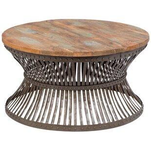 Eakes Distressed Industrial Metal Coffee Table 17 Stories Read Reviews ...