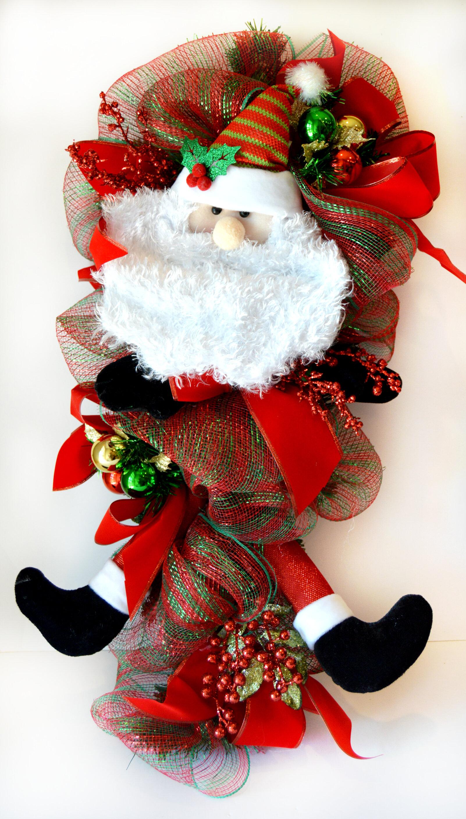 The holiday aisle santa teardrop swag wayfair