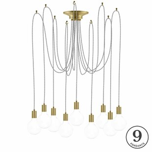 Ian 9-Light Cluster Pendant by 17 Stories