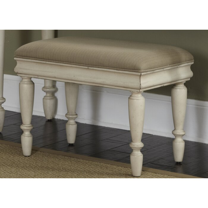 Remarkable Warlick Upholstered Vanity Stool Squirreltailoven Fun Painted Chair Ideas Images Squirreltailovenorg