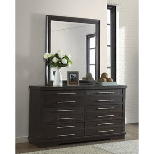 Jebediah 6 Drawer Double Dresser with Mirror