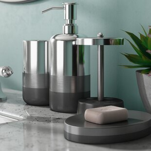 Wrought Studio Quirion 4 Piece Bathroom Accessory Set