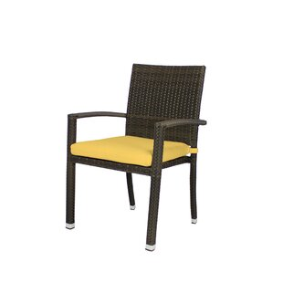Rorie Stacking Patio Dining Chair With Cushion by Brayden Studio Spacial Price