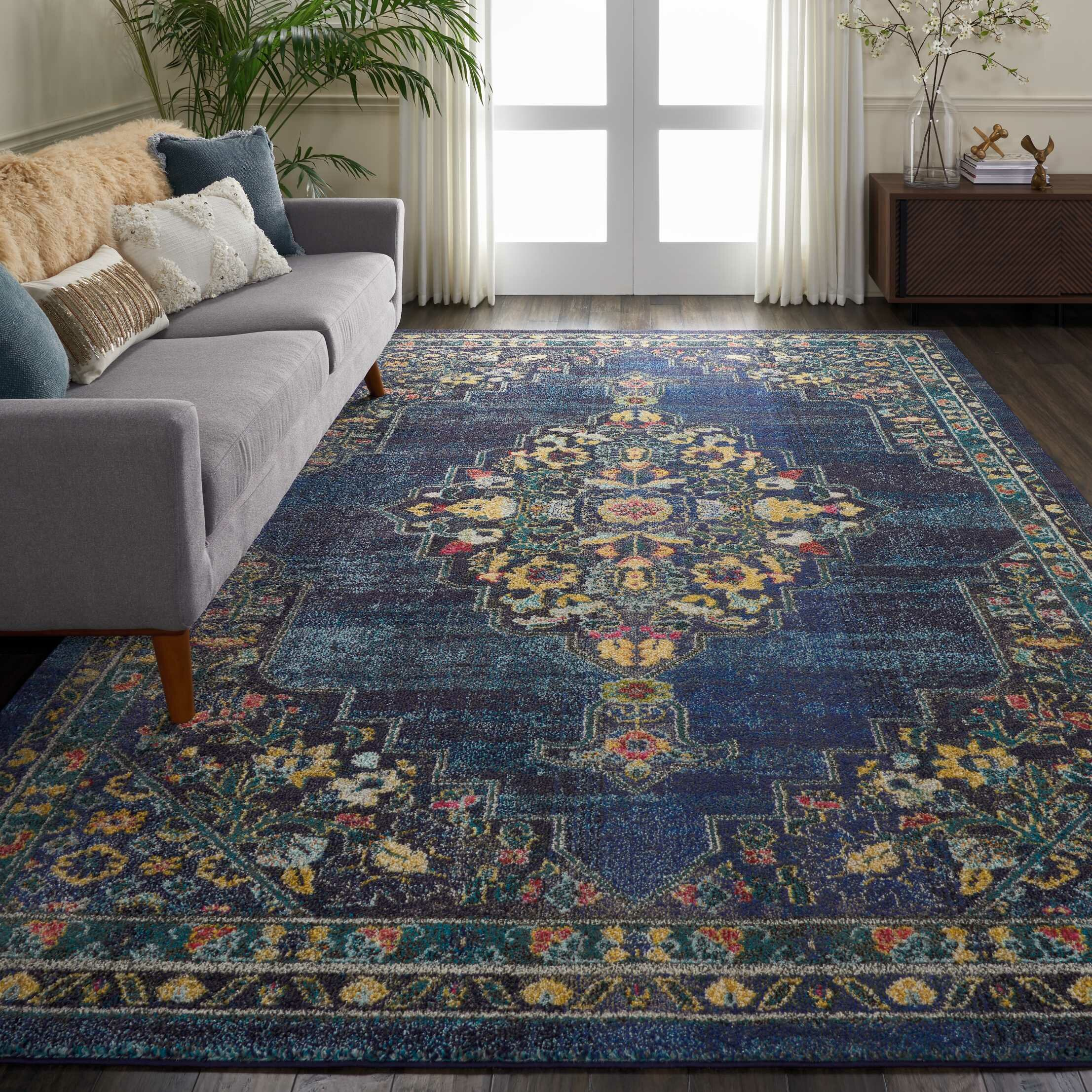 World Menagerie Lundy Oriental Blue Area Rug Reviews Wayfair