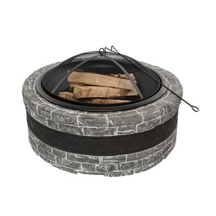 hop Now! Cast Stone Wood Fire Pit Sun Joe