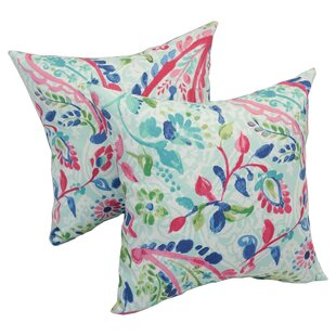 Pavel Paisley Outdoor Throw Pillow (Set of 2)