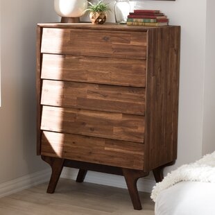 Union Rustic Tion Wood 5 Drawer Chest