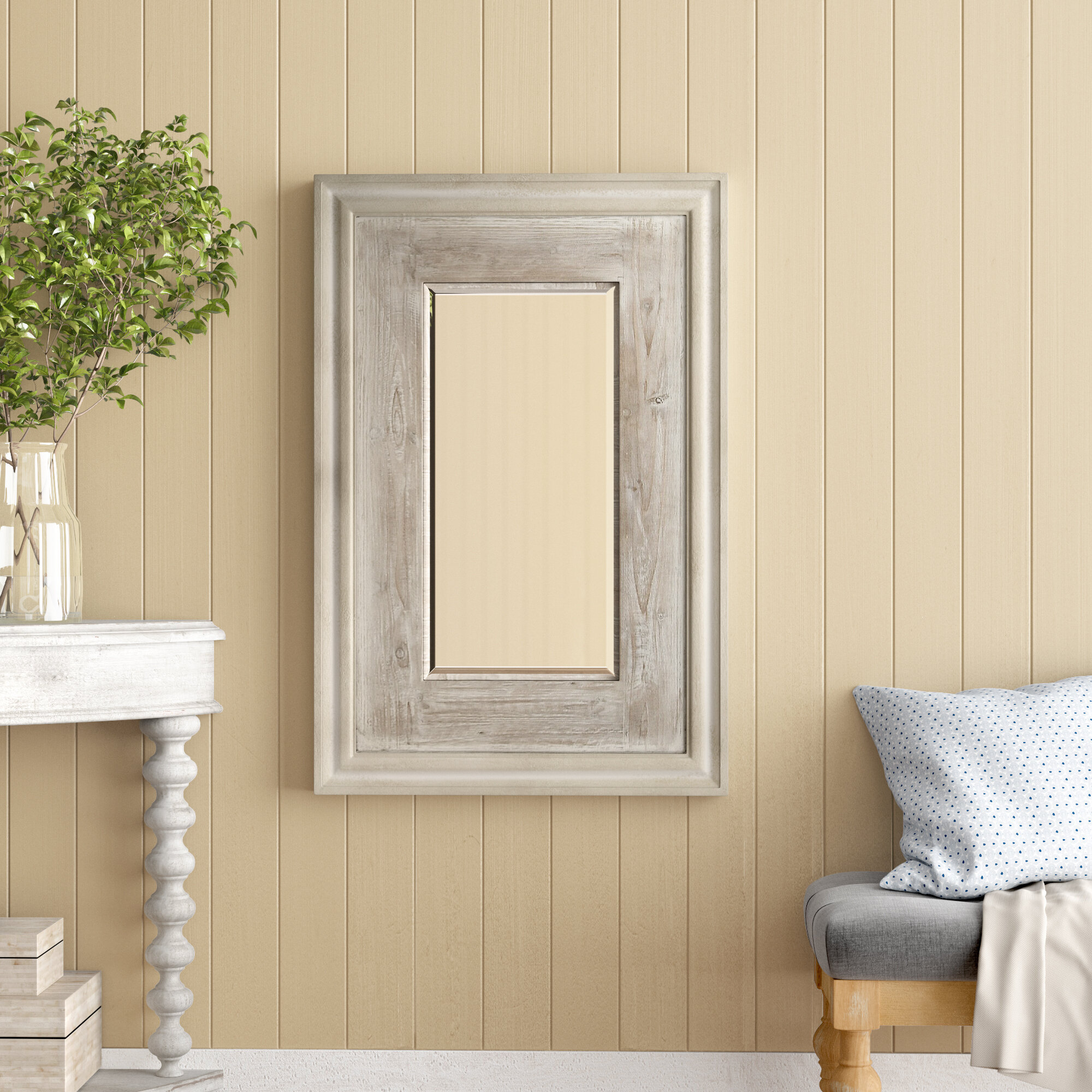 Argent Traditional Beveled Distressed Accent Mirror Reviews