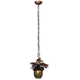 Meyda Tiffany Acorn Branch 1-Light Novelt..