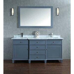 vanity double sink 72. Dixie 72  Double Bathroom Vanity Set with Mirror Inch Vanities You ll Love Wayfair