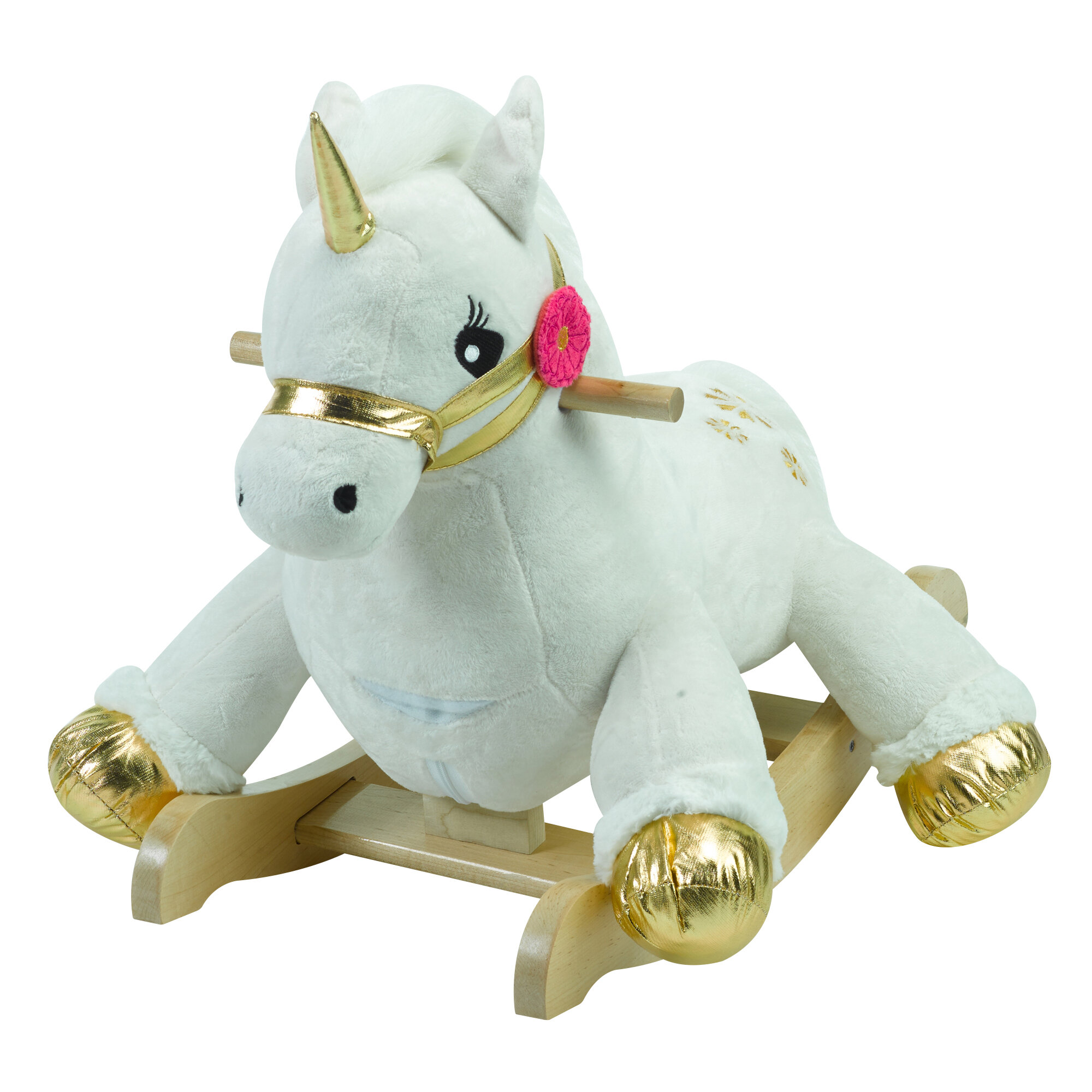 rockabye critters angel the unicorn rocking horse reviews wayfair