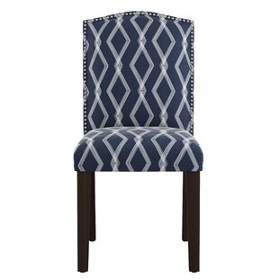 Newberry Nail Button Arched Crossweave Side Chair by Wrought Studio