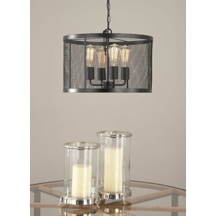 Cole & Grey Metal 4-Light Drum Chandelier