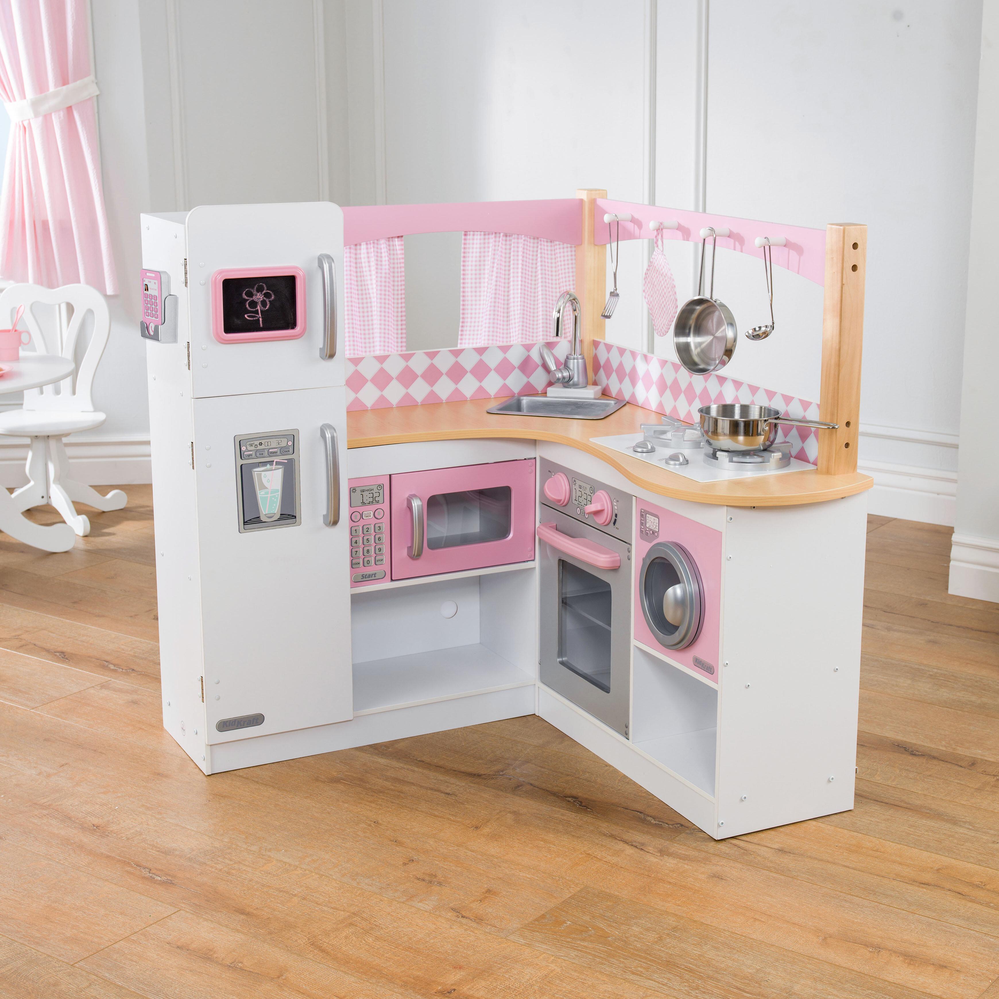 & KidKraft Grand Gourmet Corner Kitchen Set u0026 Reviews | Wayfair