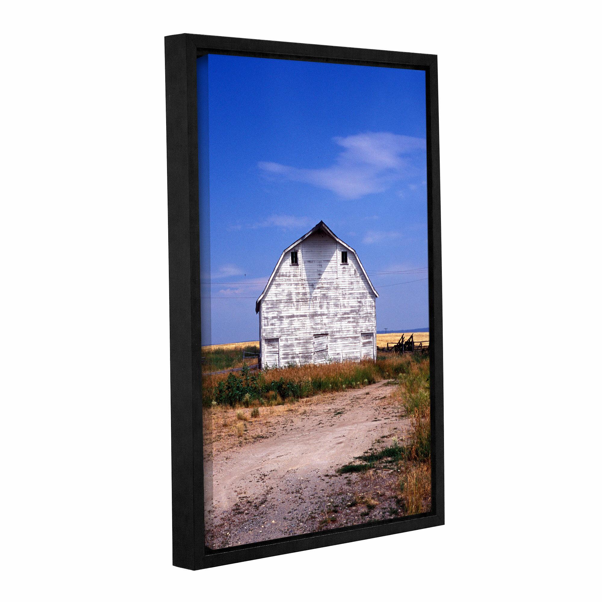 Artwall Old White Barn By Kathy Yates Framed Photographic Print Wayfair