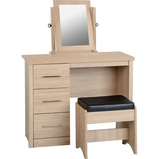 Kelton Dressing Table Set With Mirror By Mercury Row