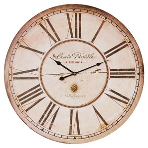 christopher round oversized wall clock
