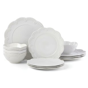 Chelse Muse Floral 12 Piece Dinnerware Set, Service for 4