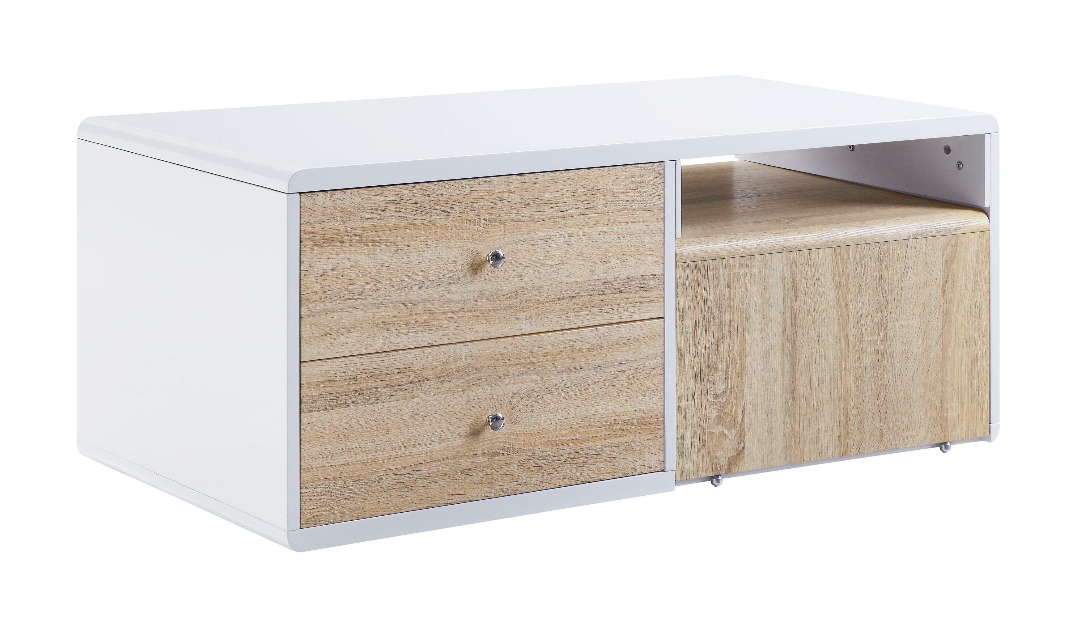 Latitude Run Alacazar Solid Wood Block Coffee Table With Storage Wayfair
