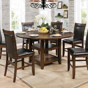 Darby Home Co Fells Wooden Round Counter Height Dining Table