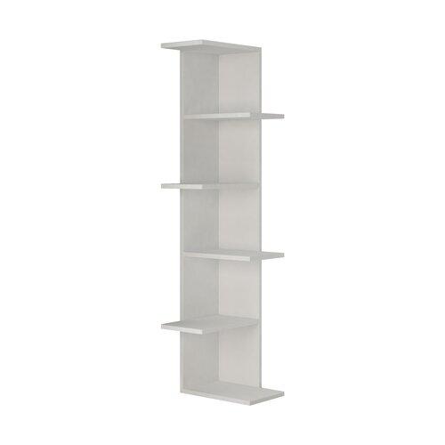 1 Eck-Bücherregal | Wohnzimmer > Regale > Bücherregale | Weiß | Spanplatte | ClearAmbient