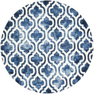 Bettina Hand-Tufted Wool Navy Area Rug by Willa Arlo Interiors