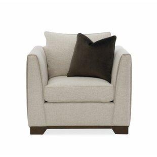Modern Streamline Armchair by Caracole Modern