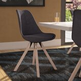 Shubert Upholstered Side Dining Chair in Gray by Wrought Studio™