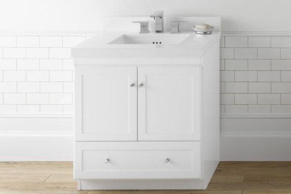White Shaker Vanity 60 In | Wayfair