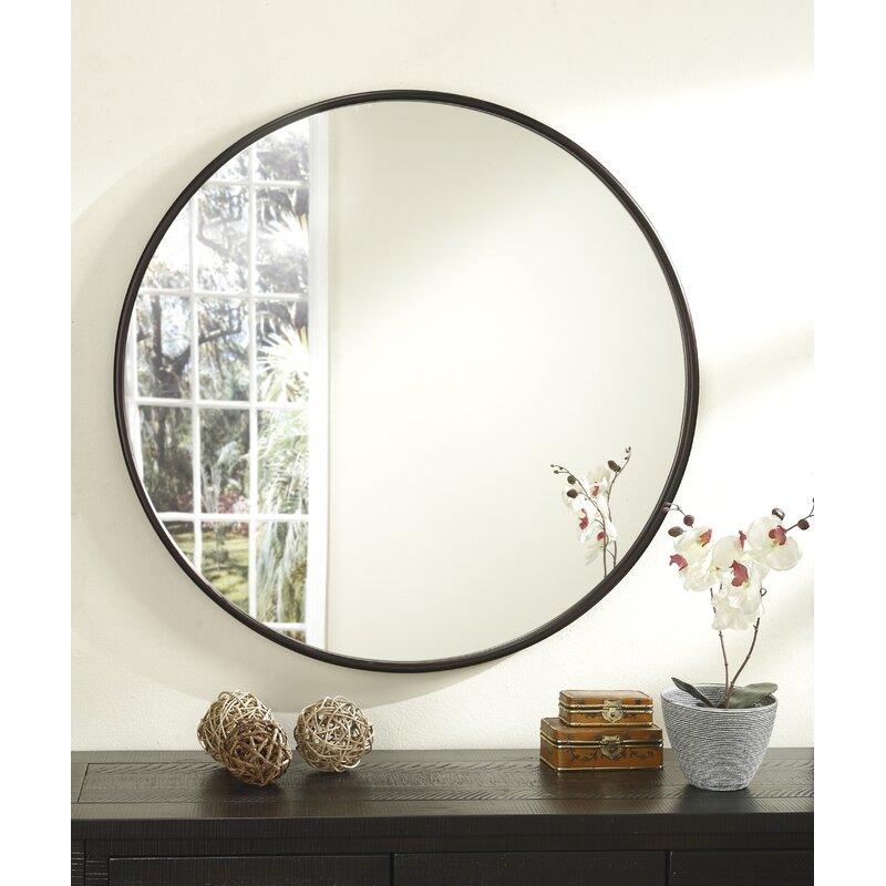 Mistana Walden Round Accent Mirror