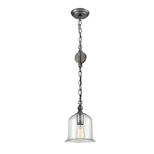 Timberlake Pulley 1-Light Dome Pendant