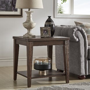 Reviews Pelton End Table by Loon Peak