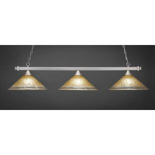 Ybarra 3-Light Billiard Pendant by Red Barrel Studio
