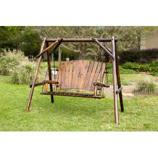 Char-Log Star Porch Swing with Stand by Leigh Country