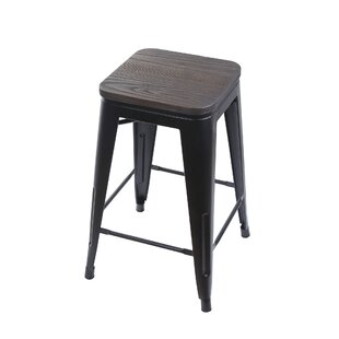 Williston Forge Calanthe 24 Bar Stool (Se..