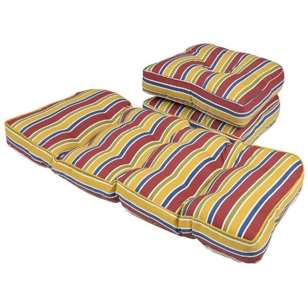 Charlton Home Stripe Gussett Outdoor 3 Piece Loveseat Sofa Seat Cushion Wayfair