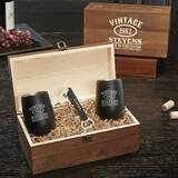 Shelborne Aged to Perfection Personalized Stainless Steel Wine Tumblers Gift Set by Winston Porter