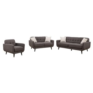 Crystal 3 Piece Living Room Set by AC Pacific