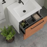 Akadia 24 Wall-Mounted Single Bathroom Vanity Set with Mirror by Ebern Designs