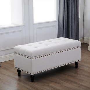 Velazquez Tufted Storage Ottoman by Charlton Home