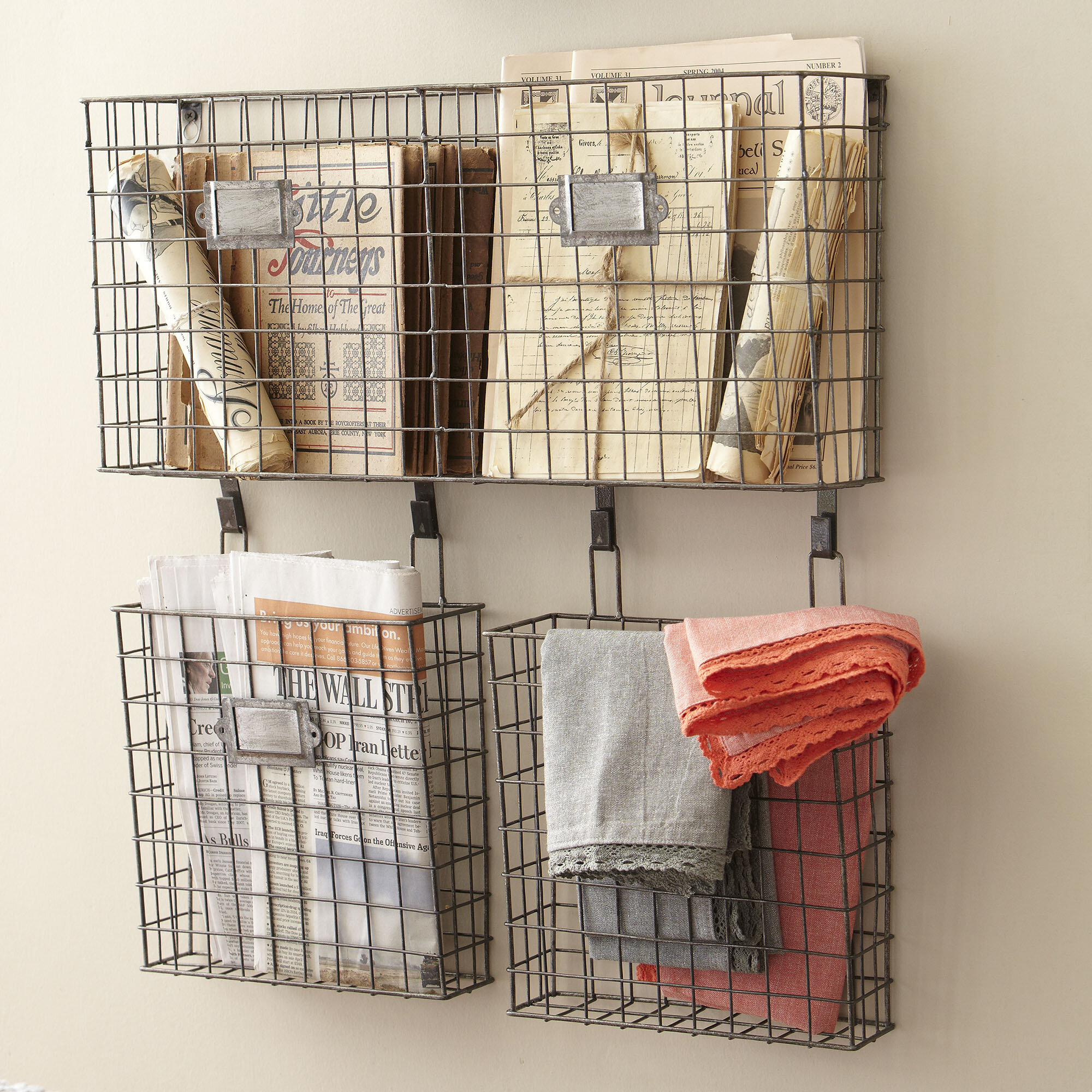 Omro Wall Storage Organizer With Wall Baskets Reviews Birch Lane