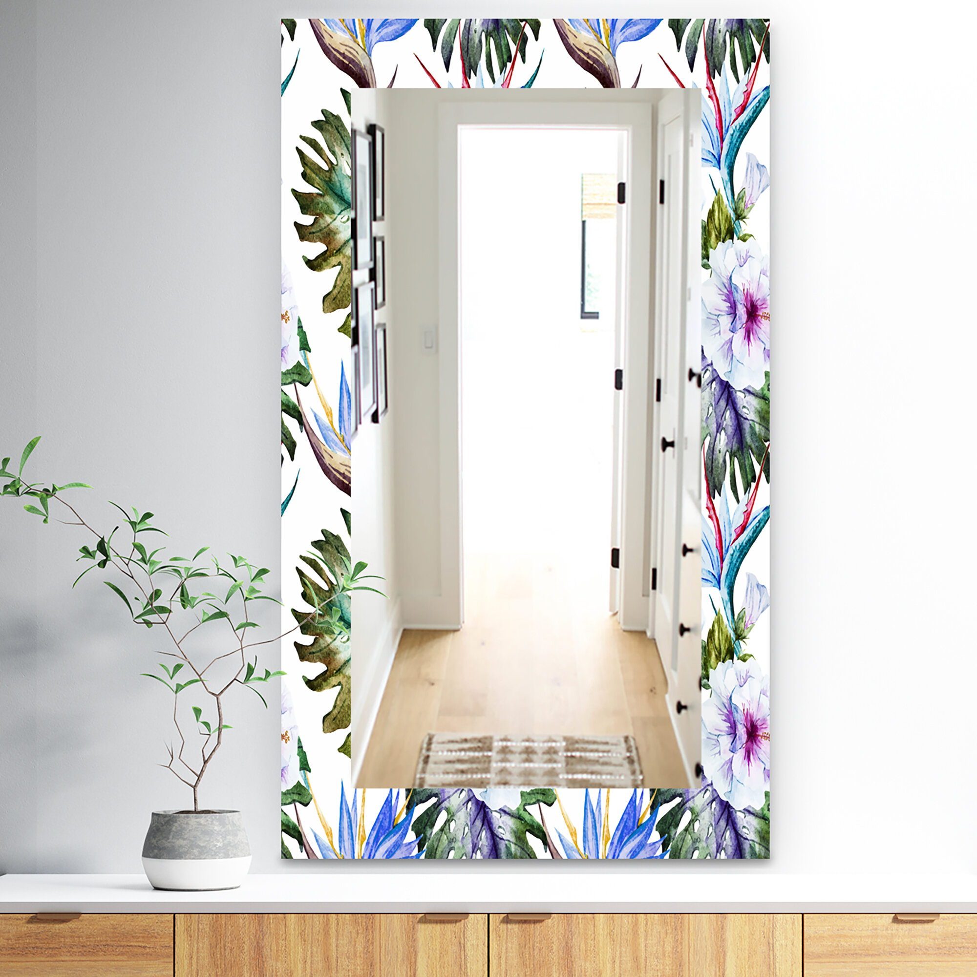 East Urban Home Tropical Traditional Mirror