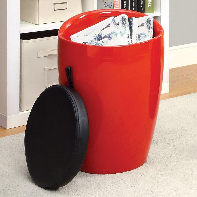Kitalpha Storage Stool with Padded Seat