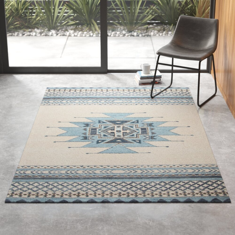 Alice Hand Tufted Wool Blue Area Rug Reviews Allmodern